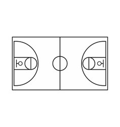 Basketball field icon outline style vector image
