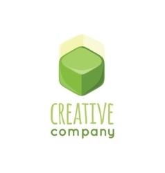 Creative Company Logo Design Flat vector image