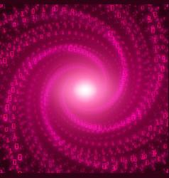 Data flow visualization violet big vector