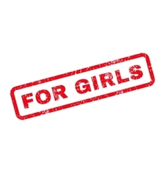 For Girls Text Rubber Stamp vector image