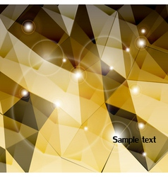 Gold triangle background vector image