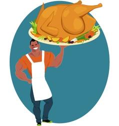 Holiday turkey vector image vector image