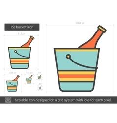 Ice bucket line icon vector image vector image