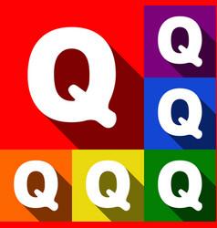 letter q sign design template element set vector image
