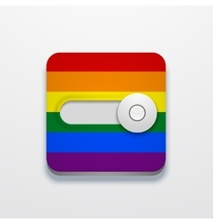 modern lgbt flag button on gray background vector image