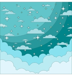 Night Sky with Stars in the Clouds Stock vector image vector image