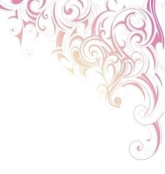 Ornamental design card vector image vector image