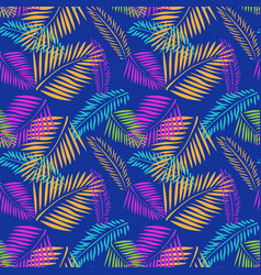 palm tree leaves seamless pattern tropical vector image