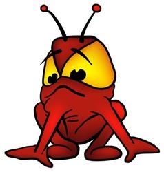red alien vector image vector image