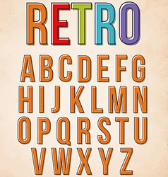 Retro alphabet set vector image