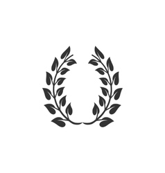 Winner wreath icon isolated on a white background vector image vector image