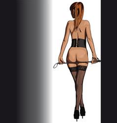 bdsm girl vector image vector image
