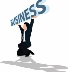 business support vector image vector image