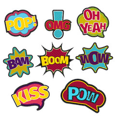 embroidery text patches trendy fashion stitching vector image vector image