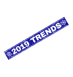 2019 trends grunge rectangle stamp seal with vector image