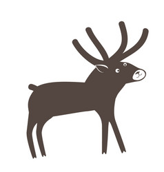a cute surprised deer on white background vector image