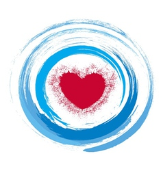 Abstract heart on a white blue background vector image