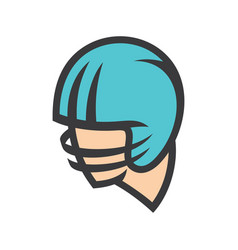 american football helmet sign vector image