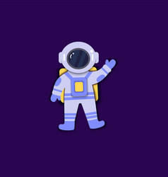 Astronaut in space suit is floating in vector