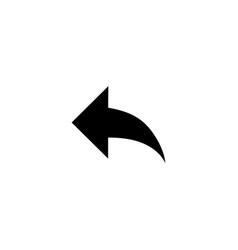 Back arrow icon vector