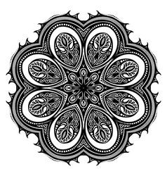 Beautiful Deco Black Mandala vector