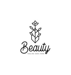 beauty floral logo vector image