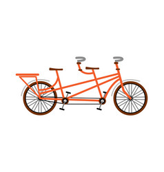 bike tandem orange flat vector image