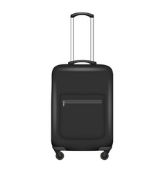 black travel bag icon realistic style vector image