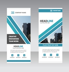 Blue Business Roll Up Banner flat design template vector