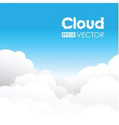 blue cloud background vector image