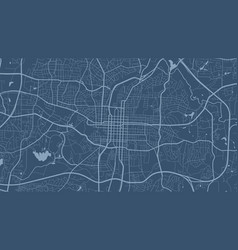 Blue raleigh city area background map streets and vector