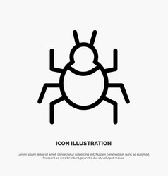 Bug nature virus indian line icon vector