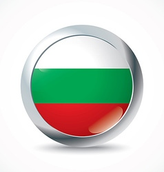 Bulgaria flag button vector image