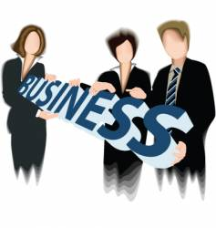 business three vector image