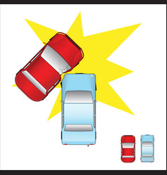 Car accident vector