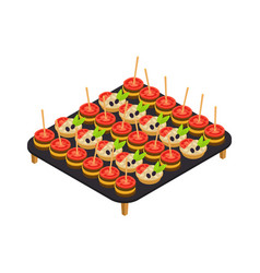 catering isometric icon vector image