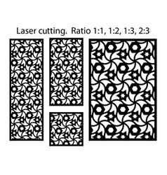 cnc geometric template set laser pattern set vector image