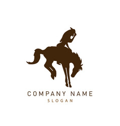 cowgirl logo vector image