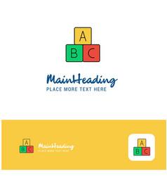 creative alphabets blocks logo design flat color vector image