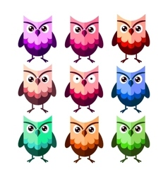 Cute owl characters vector image vector image