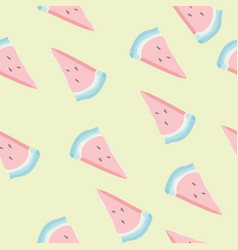 cute seamless pattern with watermelon slices vector image