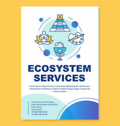 Ecosystem services poster template layout banner vector