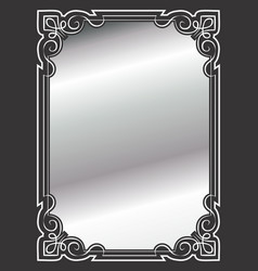 Elegant ornate border silver vector