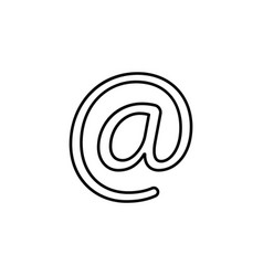 email line icon black vector image