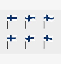 finland flag symbols set national flag icons of vector image