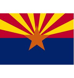 Flag arizona as vector