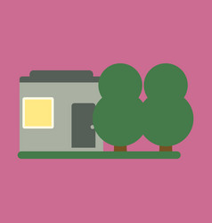 Flat icon house and garden vector