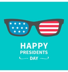 Glasses with stars and strips Presidents Day vector