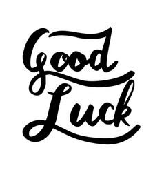 Good luck word lettering vector