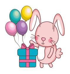 Happy birthday cute animal vector